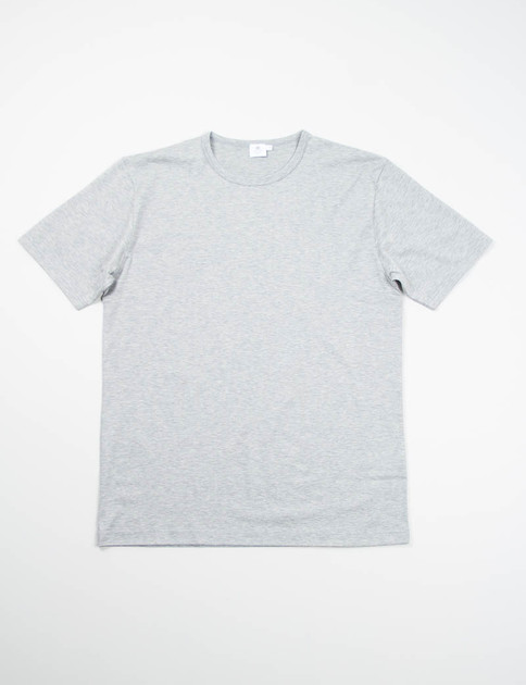 Grey Melange Crew Neck T–Shirt