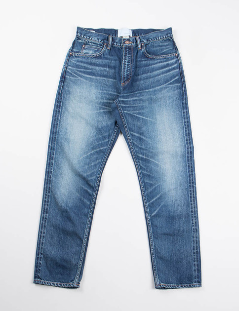 Vintage Wash 5 Pocket Tapered Jeans