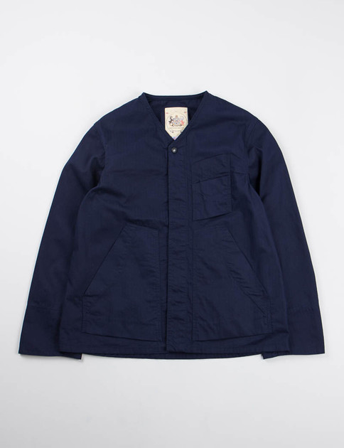 Navy Herringbone Utility Jacket