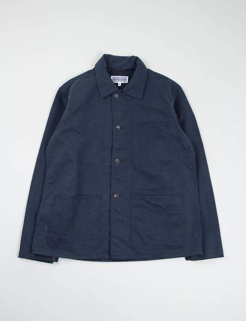 Navy Bedford Cord Utility Jacket