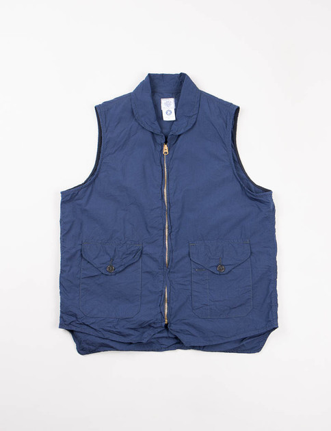 Blue Cotton Broadcloth Navy Cruz Vest
