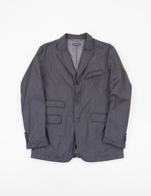 Grey Worsted Wool Andover Jacket