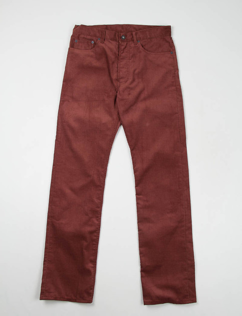 Burgundy Corduroy 5 Pocket Jean