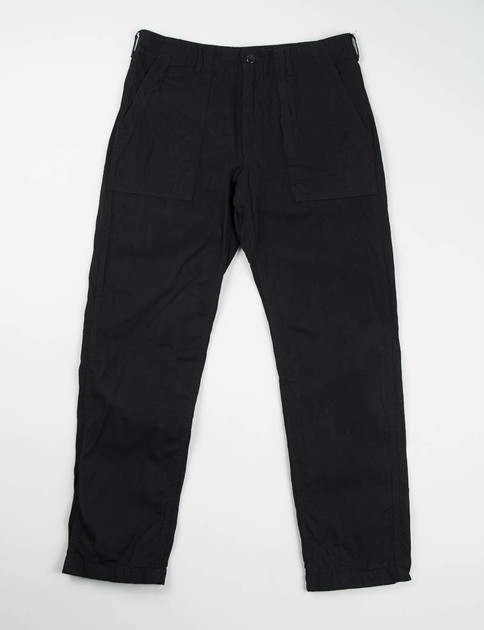 Black 7.5oz Denim Fatigue Pant