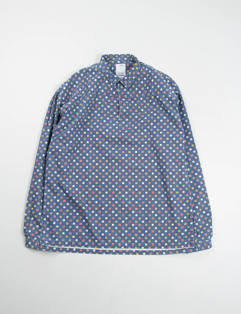 Indigo Kerchief Double Dots Tunic Shirt