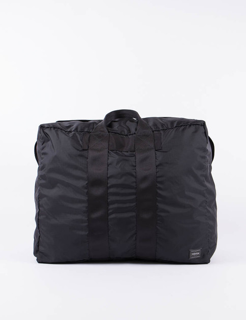 Black Flex 2Way Duffle Bag S