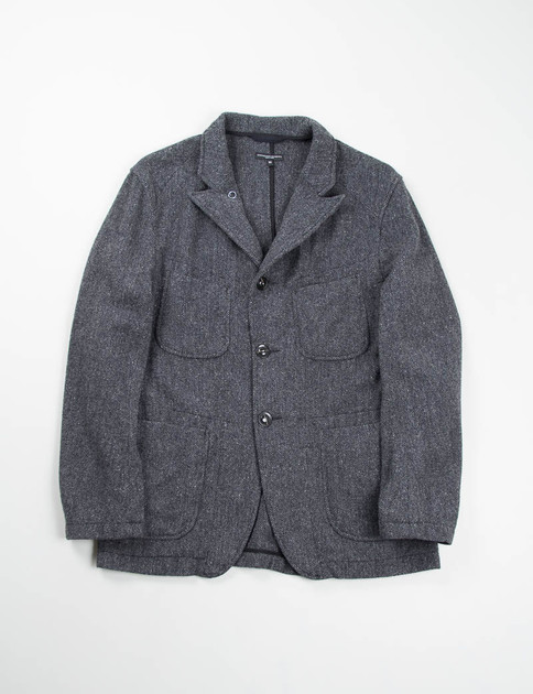 Dark Grey 13oz Herringbone Bedford Jacket