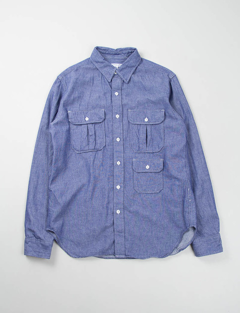Blue Dungaree Cloth Mil Shirt – EXCLUSIVE