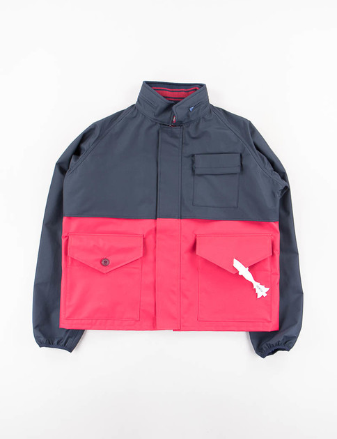 Navy/Wine Short Rain Jacket
