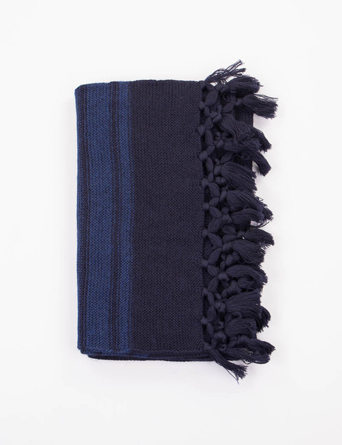 Dark Navy/Blue Striped Scarf