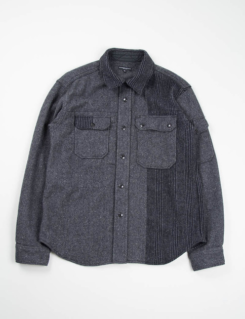 Dark Grey Pattern Block HB CPO Shirt
