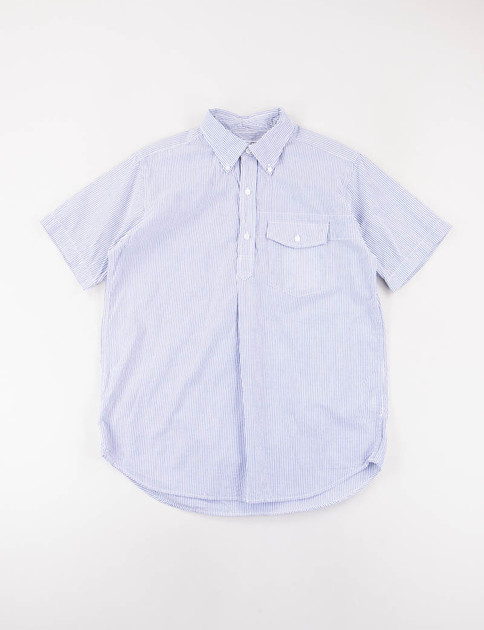 Blue/White Seersucker Stripe Popover BD Shirt
