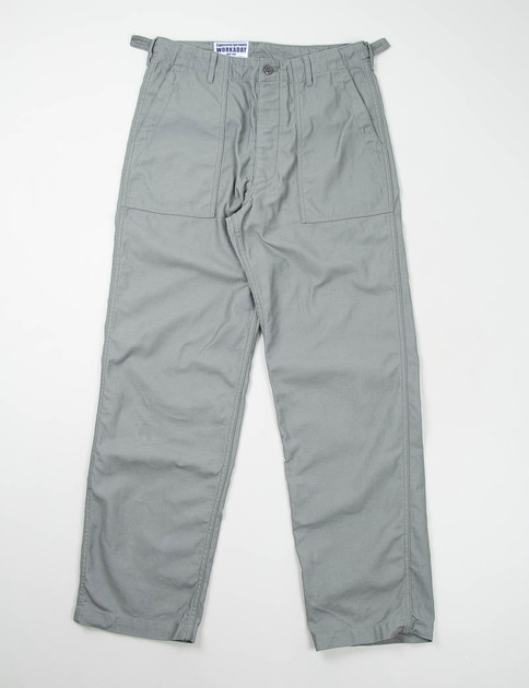 Grey Reversed Sateen Fatigue Pant