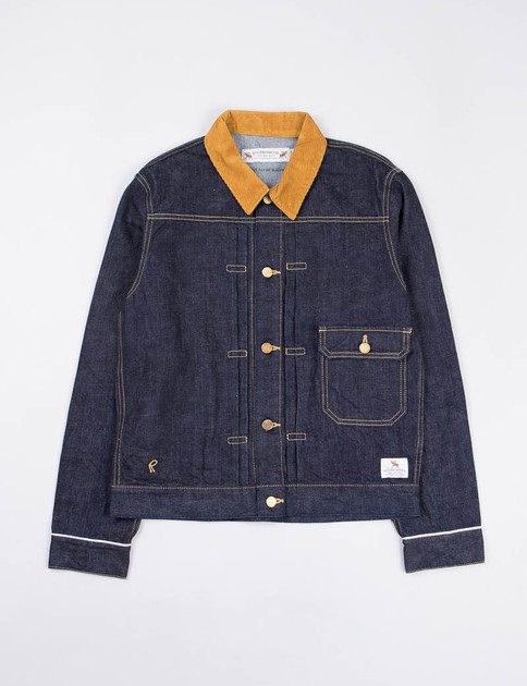 Indigo One Wash Stockman Jacket