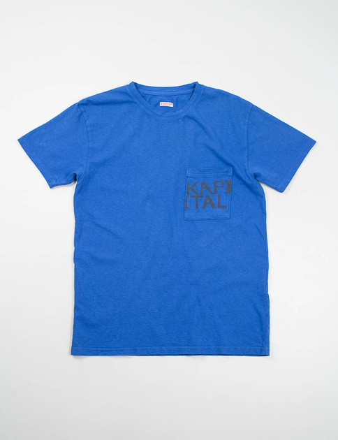 Blue Kapital Jersey Crew Pocket T–Shirt