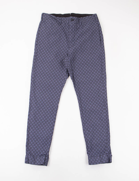 Navy Diamond Jacquard Cinch Pant