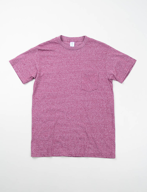 Heather Burgundy 1–Pac Pocket Tee