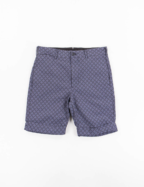 Navy Diamond Jacquard Cinch Short