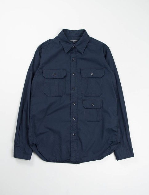 Navy French Twill Mil Shirt SPECIAL