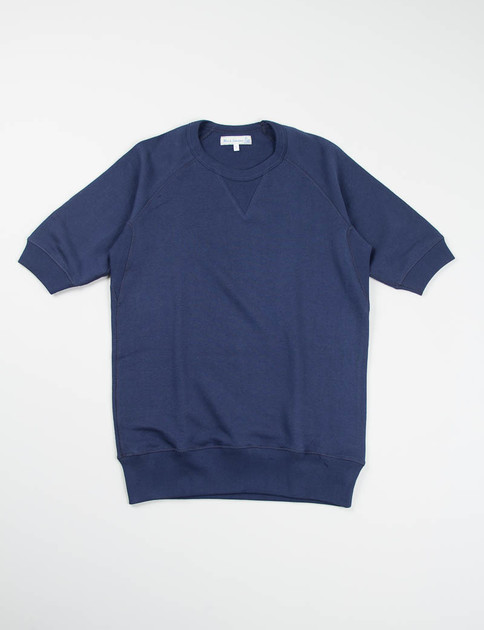 Ink Blue 347 Organic Cotton 1/4 Sleeve Sweater