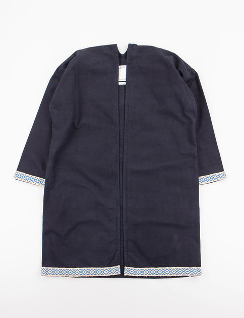 Dark Indigo Silk Road Sanjuro Coat