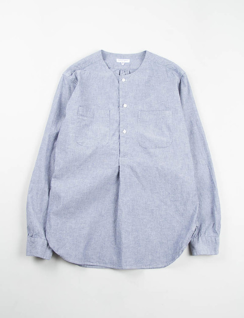 Blue Cotton Chambray Irving Shirt