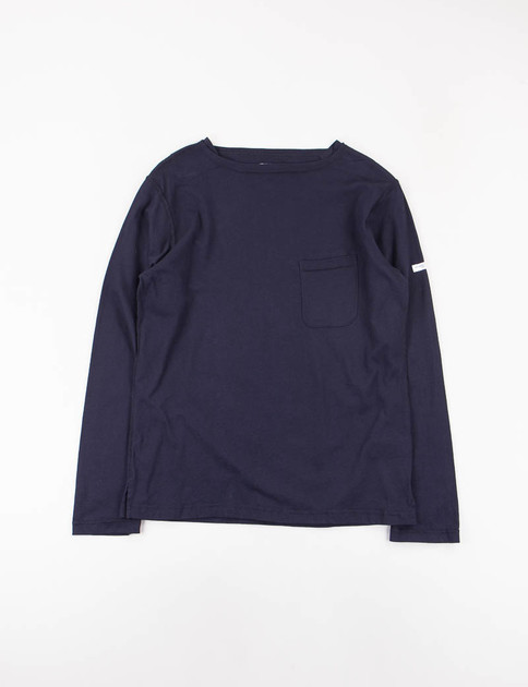Dark Navy Solid Jersey Bask Shirt