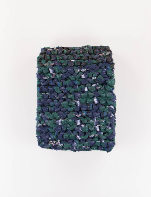 Mixed Navy Recycled Wool Knitted Scarf