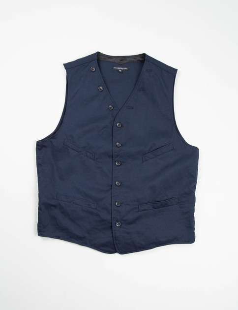 Dark Navy 8.5oz Chino Twill Cinch Vest