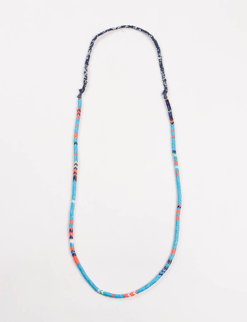 Mikia X United Arrows Blue Snake Bead Necklace