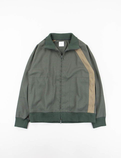 Green Asymmetry Line Track Jacket