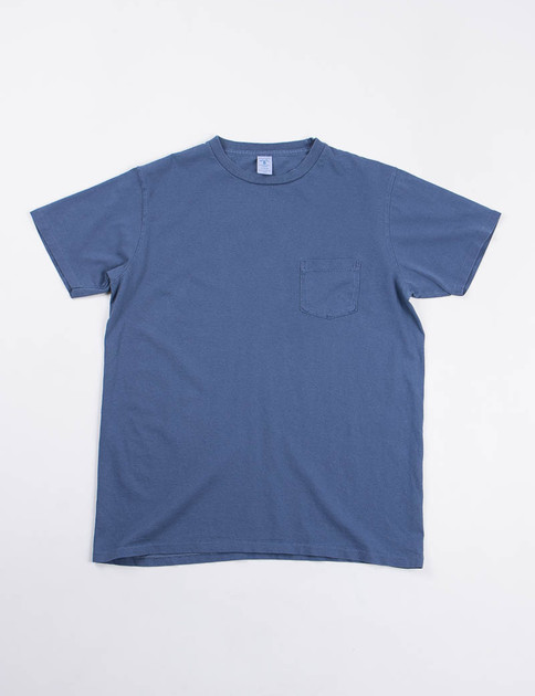 Navy Pigment Dye Pocket Tee
