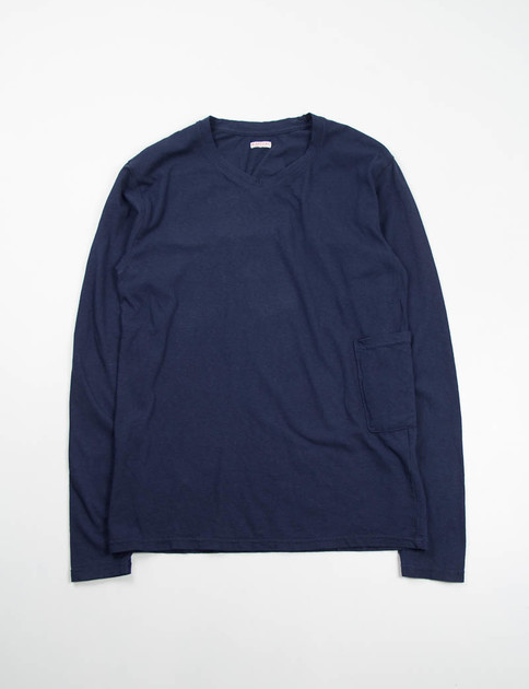 Dark Navy Regular Jersey Long T–Shirt