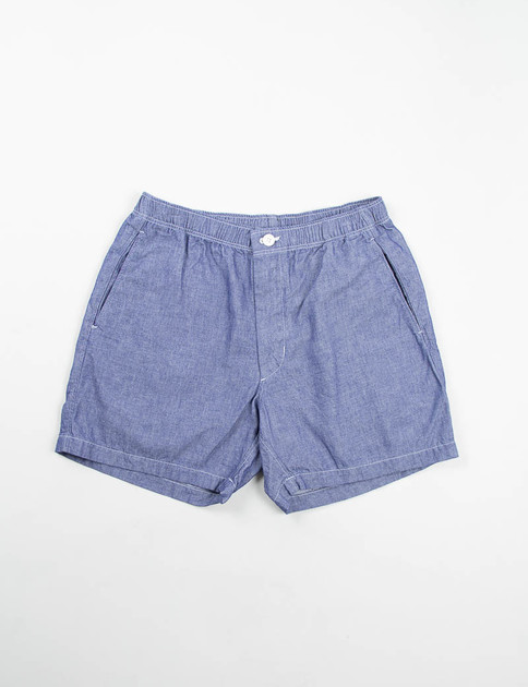 Indigo Cotton Dungaree Cloth Long Beach Short