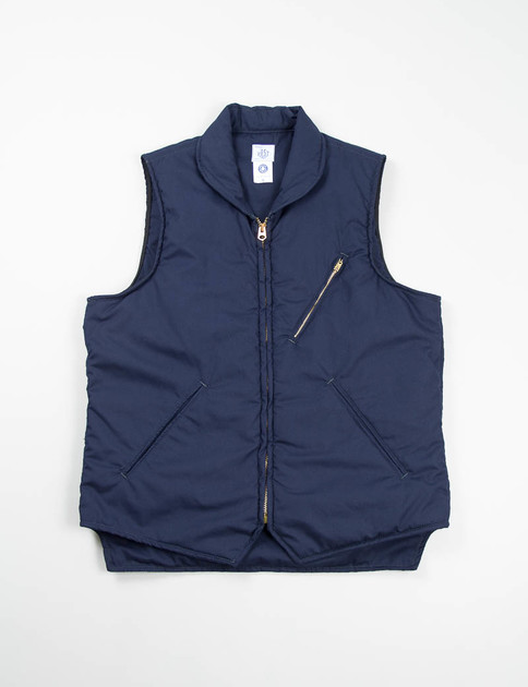 Navy Cotton Hi–Count Poplin E–Cruz Vest