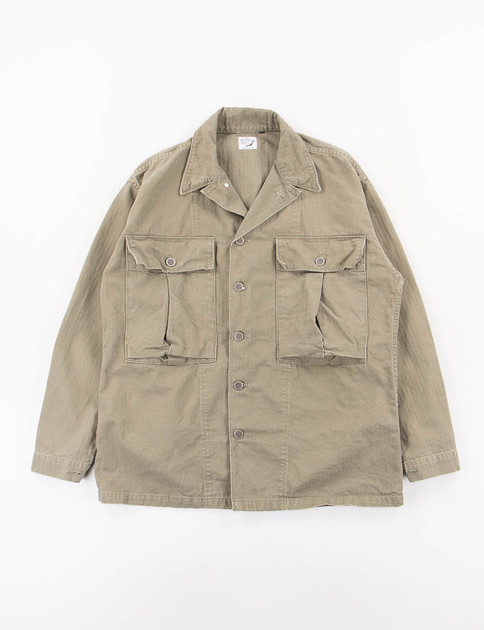 Green Used Herringbone US Army Jacket