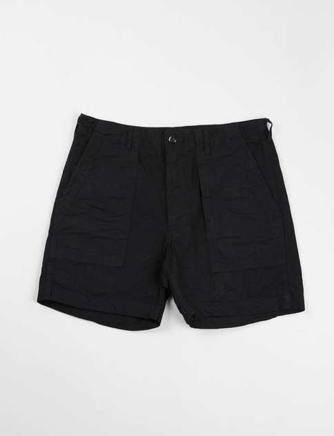 Black 7.5oz Denim Fatigue Short