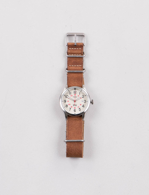 Steel/Cream w/ Brown Strap Waterbury United Watch
