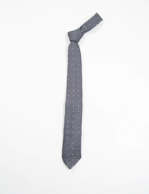 Charcoal Polka Dot Wool Neck Tie