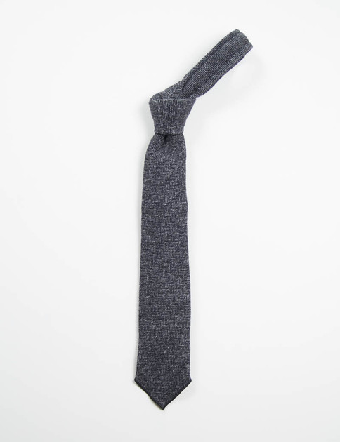 Dark Grey 13oz Herringbone Neck Tie
