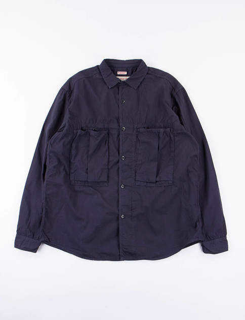 Navy Broadcloth Anorak Shirt