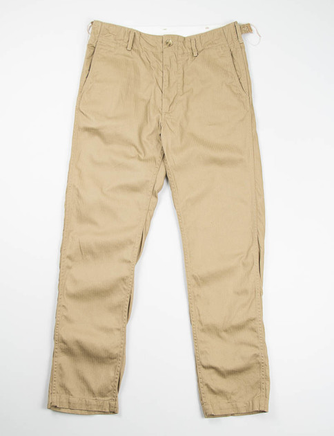 Khaki Cotton Herringbone USN Pant