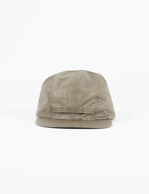 Olive Coated Linen Field Cap