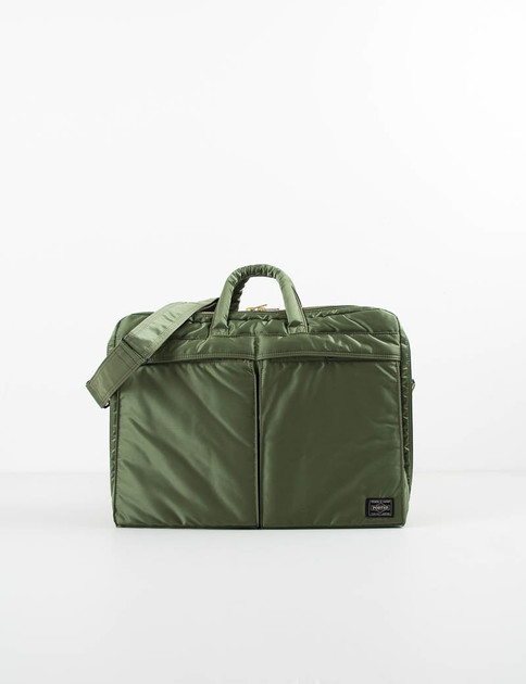Khaki Green Tanker 2Way Brief Case
