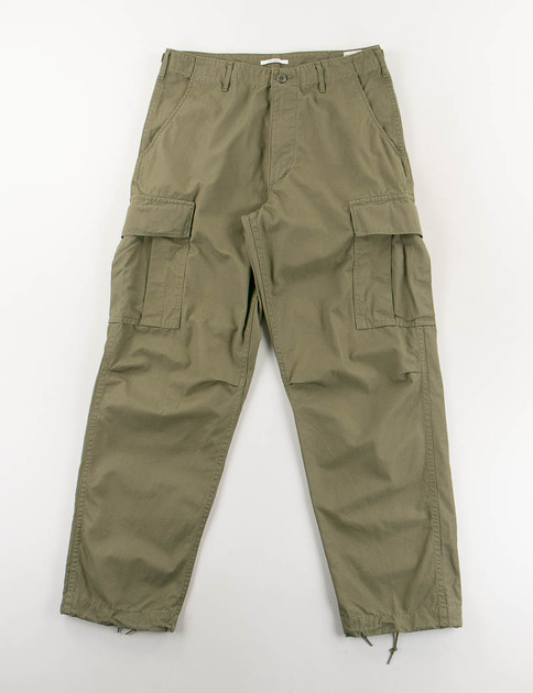 Army Green Ripstop Vintage Fit Cargo Pant