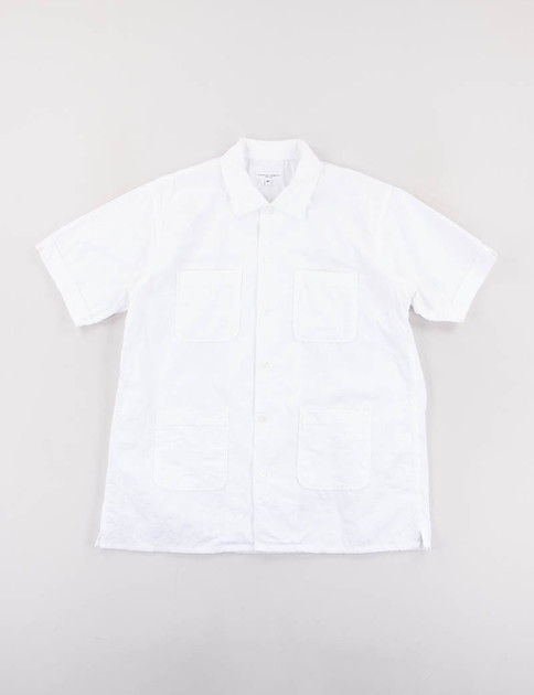 White Cotton Embroidery Camp Shirt
