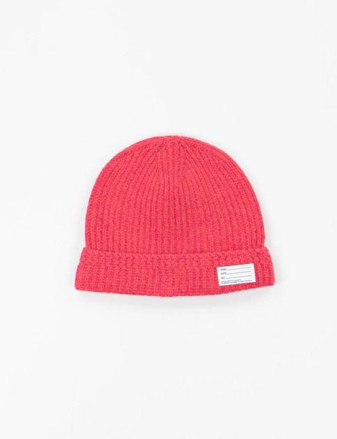 Red Wool Knit Beanie