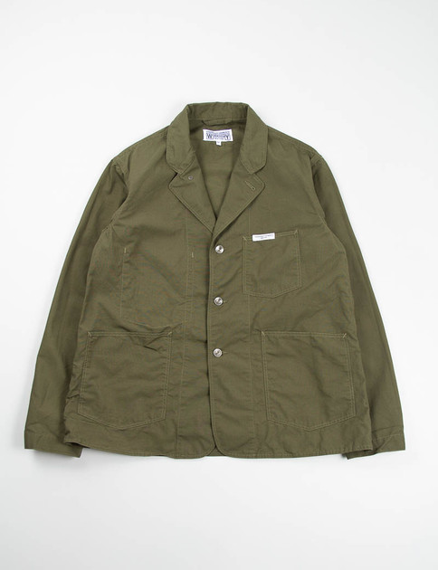 Dark Olive Cotton Ripstop Workers Jacket
