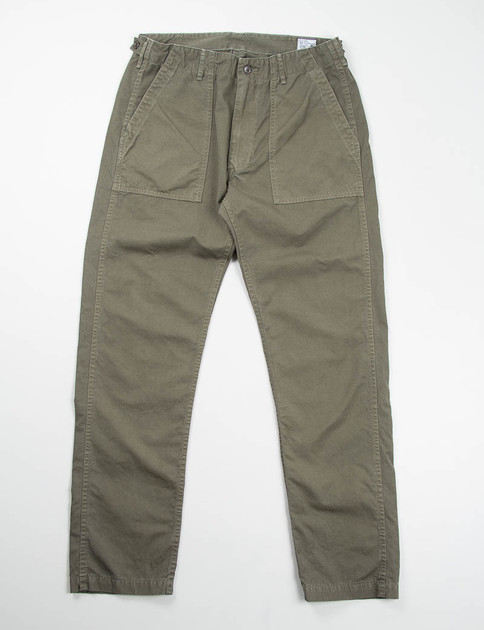 Olive Poplin Slim Fit US Army Fatigue Pant