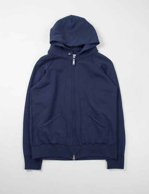 Navy Hooded Zip Sweat